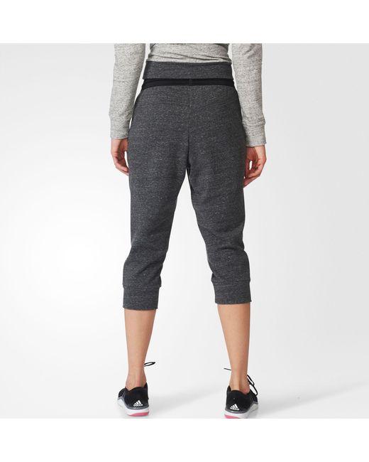 f523dd4d5e1b Lyst - adidas Cotton Fleece 3 4 Pants in Black - Save 20%