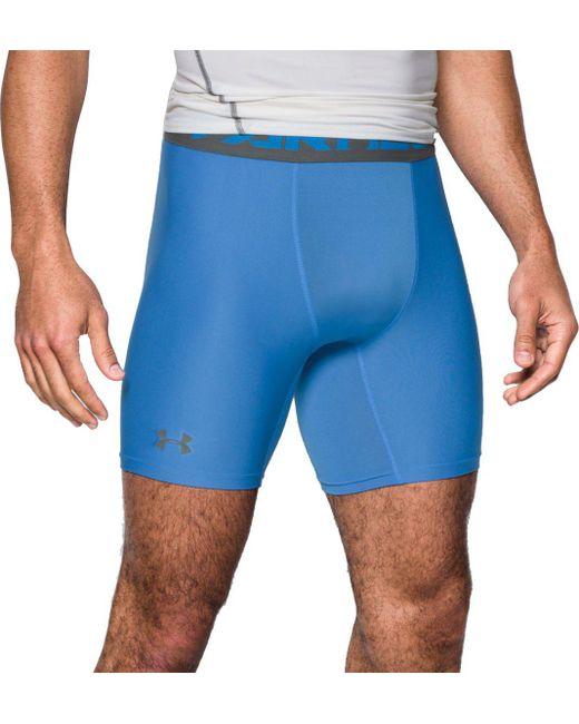 Under Armour Compression Pants Blue Under armour 6'' Heatg...