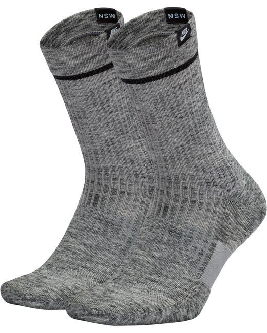 Nike - Gray Sneaker Sox Essential Crew Socks 2 Pack for Men - Lyst