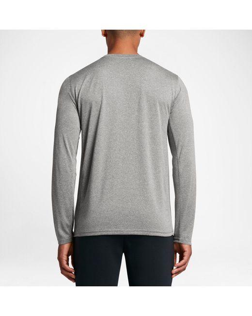 1fd27732 ... Nike - Gray Legend Long Sleeve Shirt for Men - Lyst ...