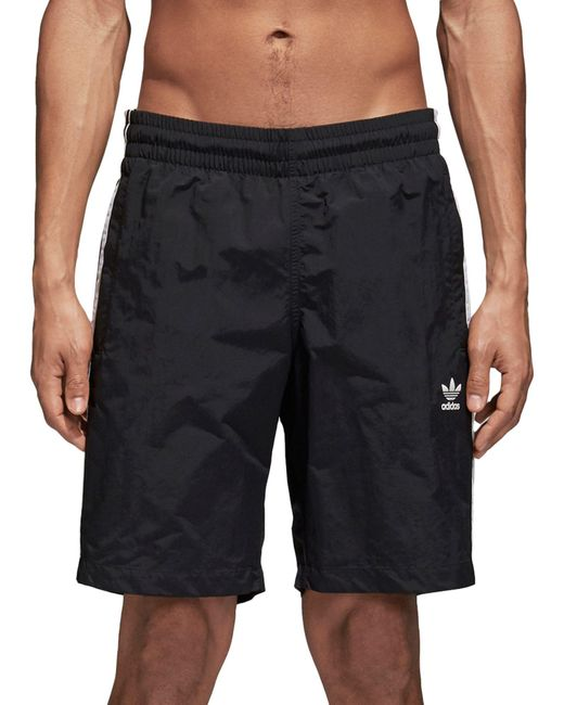 0aa8dba2d3 ... Adidas - Black Originals 3-stripes Swim Shorts for Men - Lyst ...