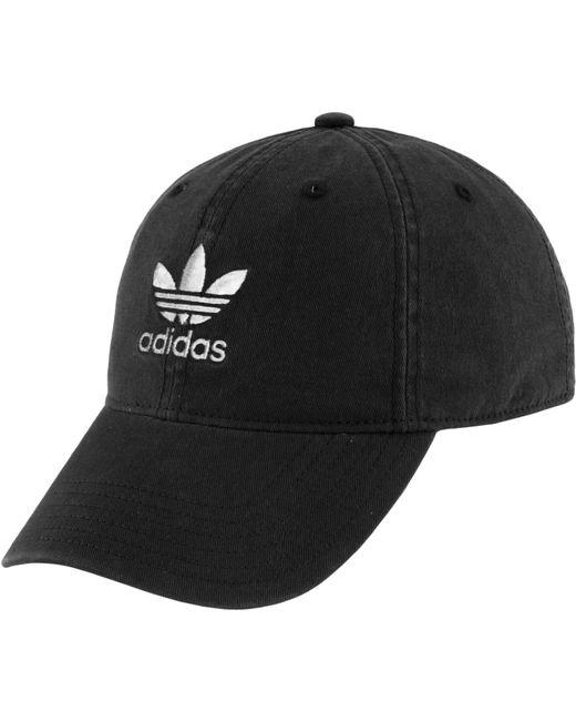 b29596bf290 Adidas - Black Originals Relaxed Strapback Hat - Lyst ...