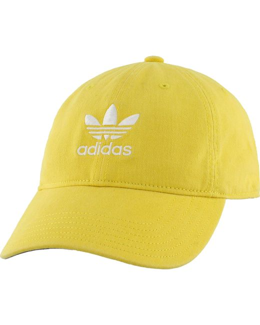 Adidas - Yellow Originals Relaxed Hat for Men - Lyst