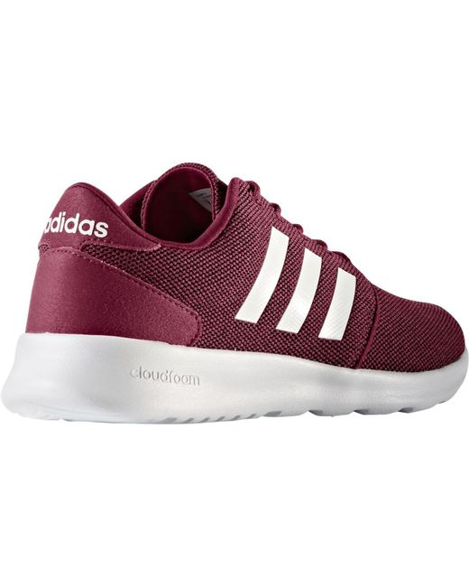 adidas neo cloudfoam qt racer casual shoes in red for men. Black Bedroom Furniture Sets. Home Design Ideas