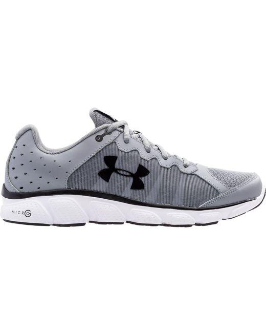 Under Armour - Gray Assert 6 Running Shoes for Men - Lyst