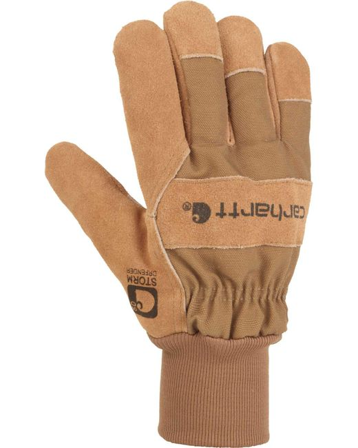 Carhartt - Brown Suede Pile Work Gloves for Men - Lyst