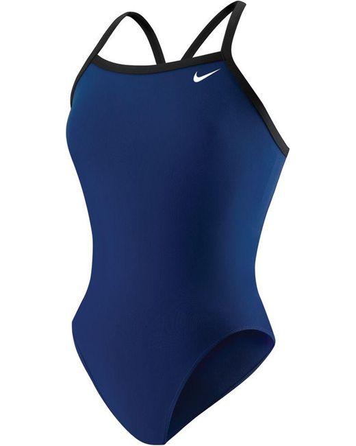 Nike - Blue Poly Core Lingerie Tank Swimsuit - Lyst