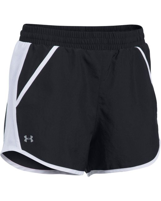 Under Armour - Black Fly-by Running Shorts - Lyst