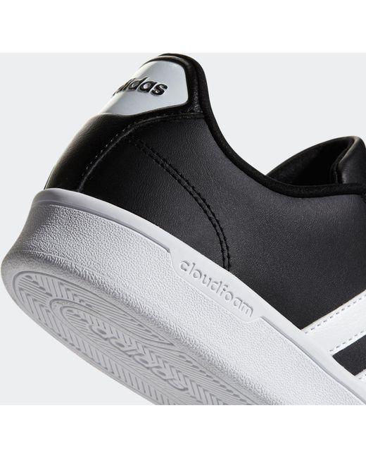 lyst adidas cloudfoam vantaggio le scarpe in nero per gli uomini.