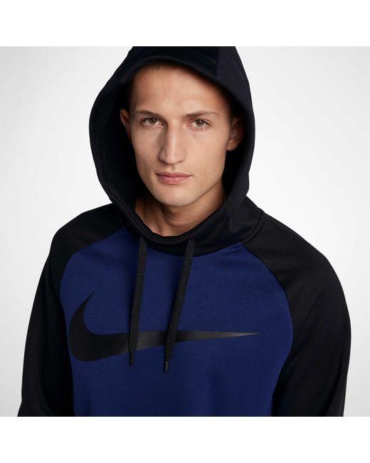 1c26faf21d ... Nike - Blue Therma Swoosh Essential Hoodie for Men - Lyst ...