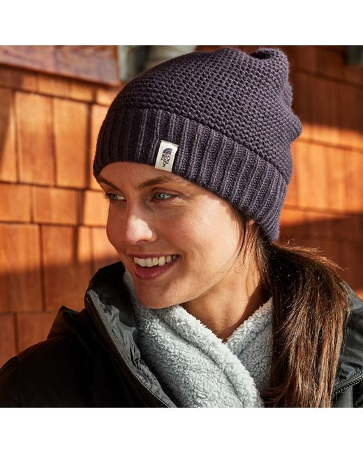 12eeafd4aa ... The North Face - Black Purrl Stitch Beanie - Lyst ...
