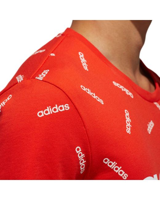 1262460e ... Adidas - Red Printed Graphic T-shirt for Men - Lyst ...