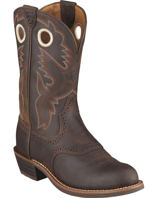 Ariat - Brown Heritage Roughstock Western Boots for Men - Lyst