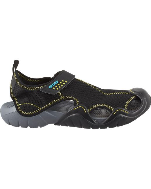 0d5bf5d39bd19c Crocs™ - Black Swiftwater Sandals for Men - Lyst ...