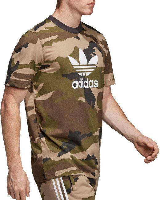 quality design bad38 ee954 ... Adidas - Green Originals Camo Trefoil T-shirt for Men - Lyst ...