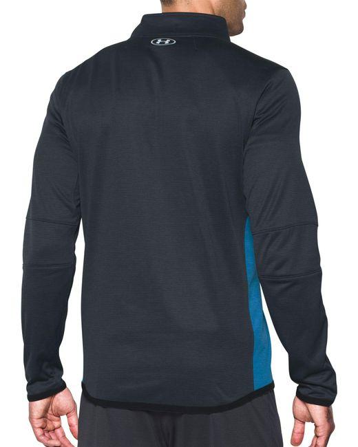 31cbbee9792 ... Under Armour - Blue Coldgear Reactor 1 4 Zip Long Sleeve T-shirt for ...