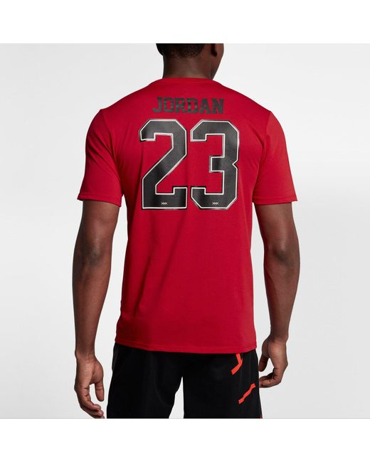 ... Nike - Red 23 Game Shoe Graphic Basketball T-shirt for Men - Lyst ...