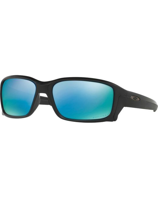 6776237b8b Oakley - Blue Straightlink Prizm Polarized Sunglasses for Men - Lyst ...