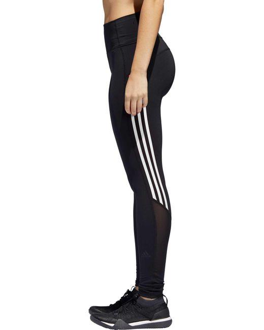 7344aa100135e Adidas - Black Elieve This 3-stripe 7/8 Training Tights - Lyst ...