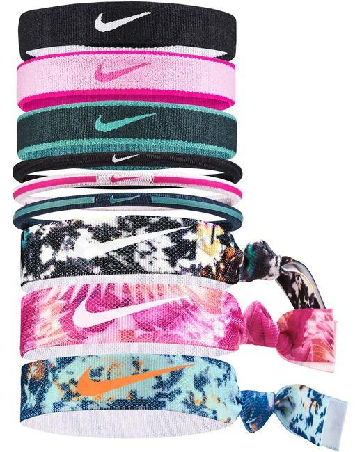 Nike Purple Mixed Ponytail Holder 9 Pack