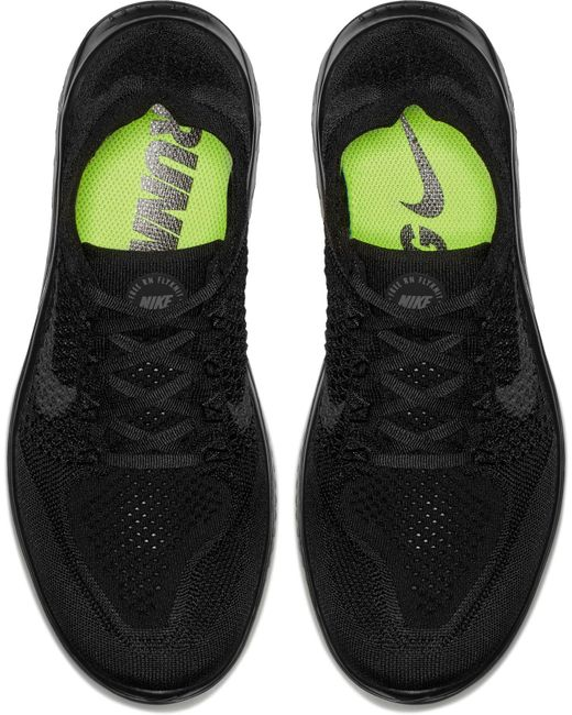 newest 92a2b 33791 ... Nike - Black Free Rn Flyknit 2018 Running Shoes for Men - Lyst ...