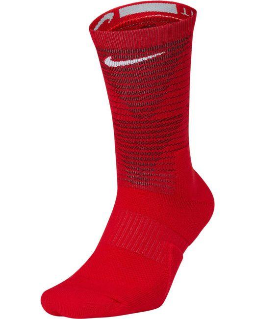Nike - Red Elite Disrupter 1.5 Crew Basketball Socks for Men - Lyst