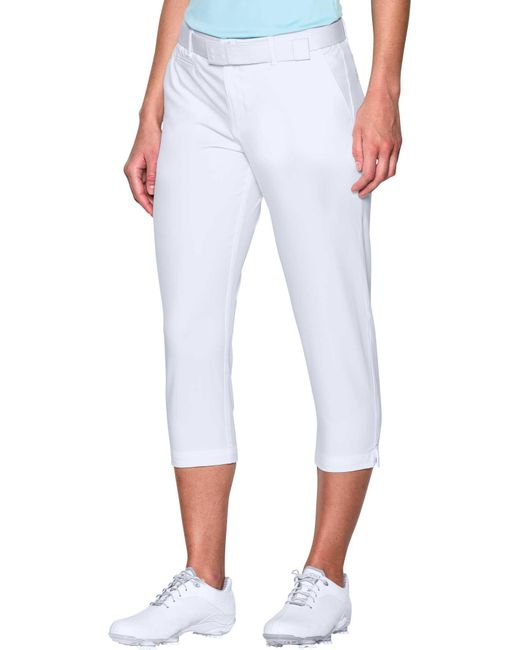 Under Armour - White Links Golf Capris - Lyst