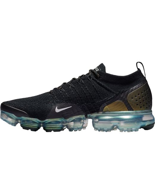 1858710039110 Men's Black Air Vapormax Flyknit 2 Running Shoes
