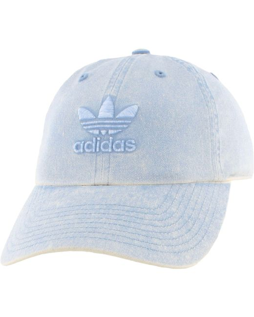 Adidas - Blue Originals Relaxed Overdye Hat - Lyst ... f855fc649bc1