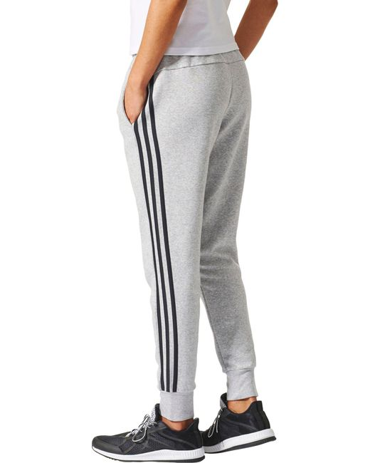 2a0d80b633 ... Adidas - Black Essentials Cotton Fleece 3-stripes Jogger Pants - Lyst  ...