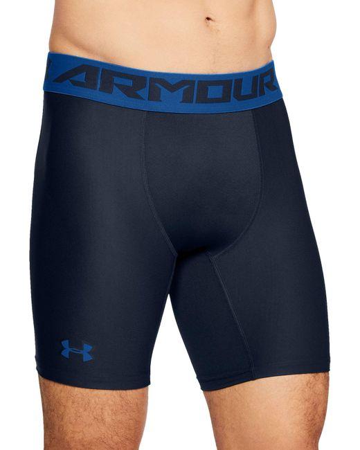 Under Armour - Blue 6'' Heatgear Armour 2.0 Compression Shorts for Men - Lyst