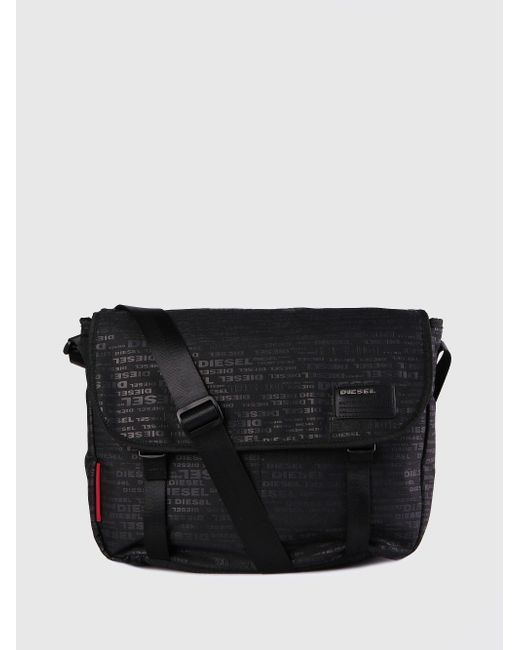 DIESEL - Black F-discover Messenger for Men - Lyst