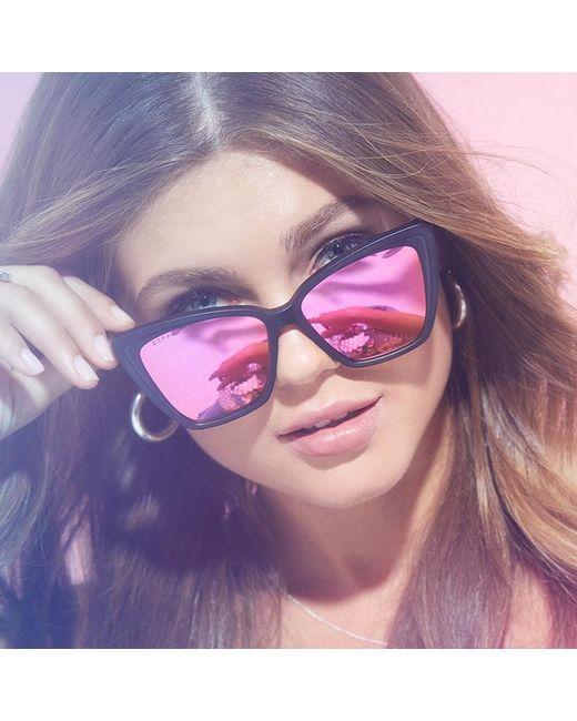 e1041c8416 ... DIFF - Multicolor Becky Ii - Matte Black + Pink Mirror Polarized - Lyst  ...