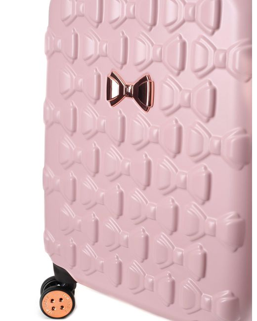 504bf4f32a4a Ted Baker Beaue Women s Moulded Bow 4 Wheel Trolley Pink in Pink - Lyst