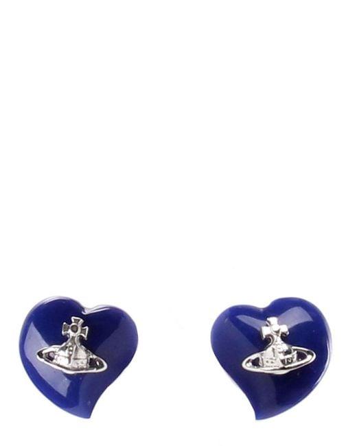 Vivienne Westwood - Blue Women's Liz Earrings Rhodium/lapis - Lyst