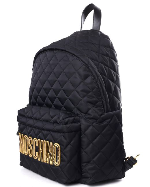 d7c3981933 Moschino Couture Quilted Women's Logo Backpack Black in Black - Lyst