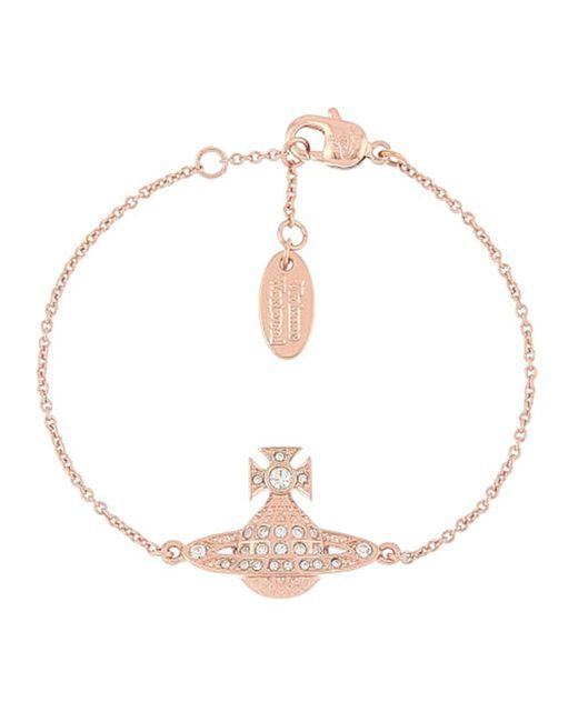 Vivienne Westwood - Multicolor Mini Bas Relief Women's Bracelet Pink Gold - Lyst