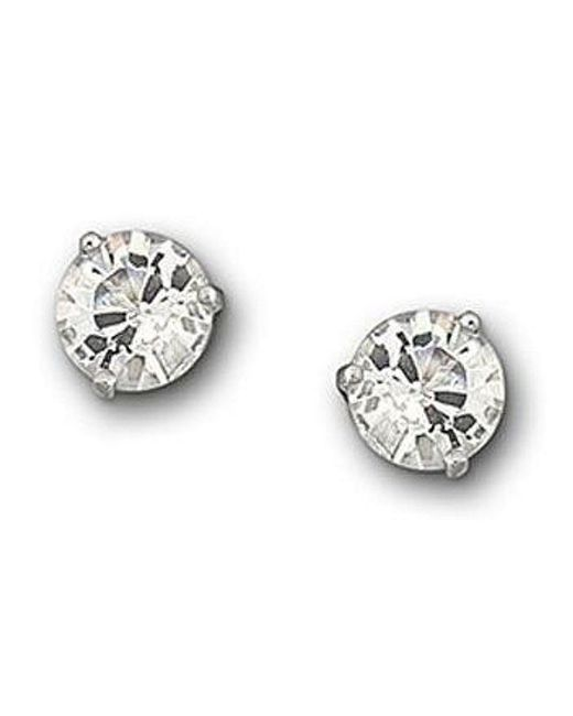 Swarovski | Metallic Crystal Solitaire Earrings | Lyst