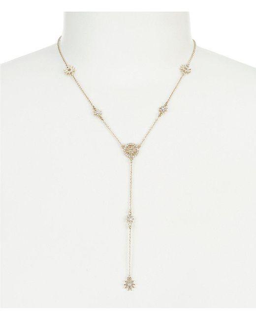 Marchesa - Metallic Dainty Detour Y-necklace - Lyst