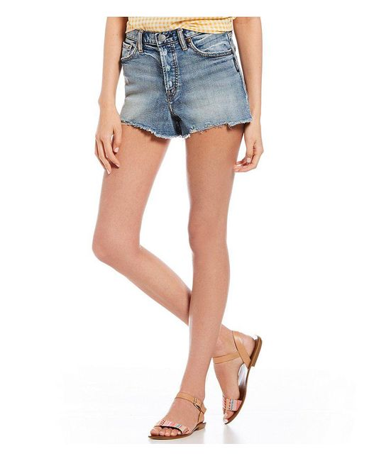 Silver Jeans Co. - Blue Mom Shorts - Lyst