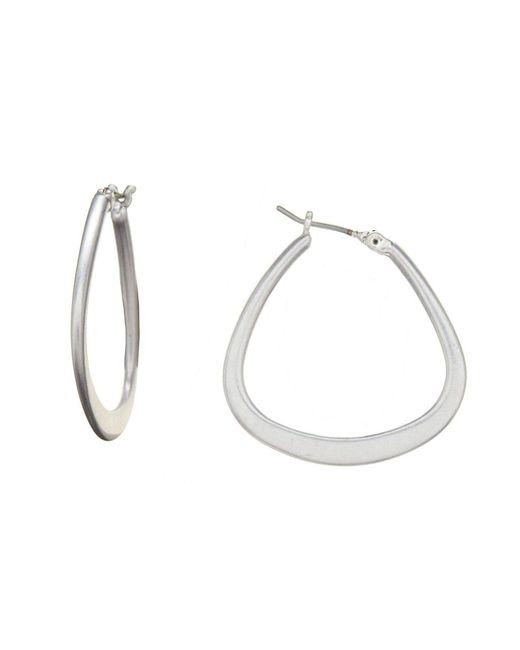 Kenneth Cole - Metallic Hoop Earrings - Lyst