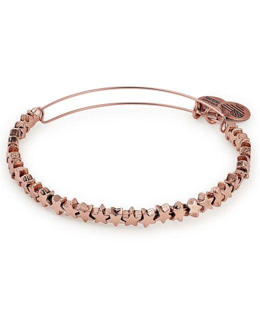 ALEX AND ANI - Metallic Metal Accents Star Beaded Bangle Bracelet - Lyst