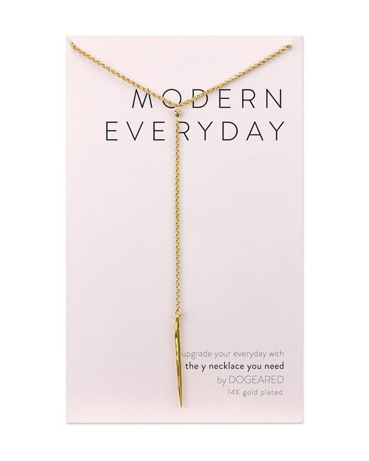 Dogeared - Metallic Modern Everyday Spear Y Necklace - Lyst