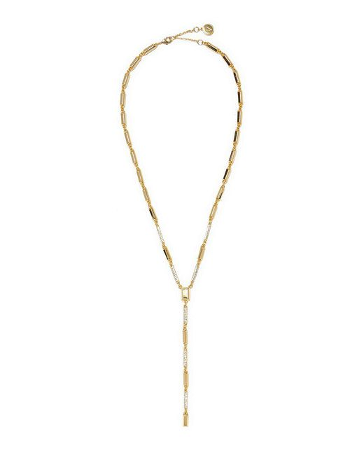 Vince Camuto | Metallic Pav Crystal Metal Y-necklace | Lyst