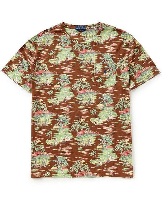 Polo Ralph Lauren - Brown Hawaiian-inspired Short-sleeve Tee for Men - Lyst