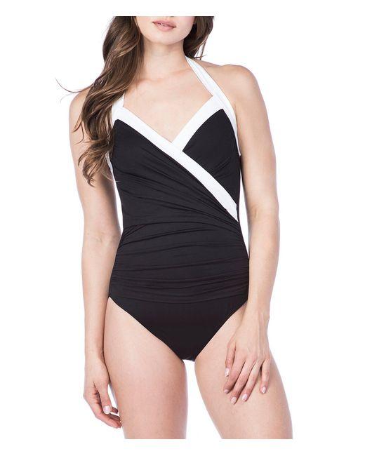Lauren by Ralph Lauren - Black Bel Aire Goddess Halter Neck One Piece Swimsuit - Lyst