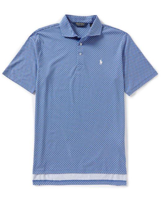 Polo Ralph Lauren - Blue Polo Golf Cotton Jersey Short-sleeve Polo Shirt for Men - Lyst