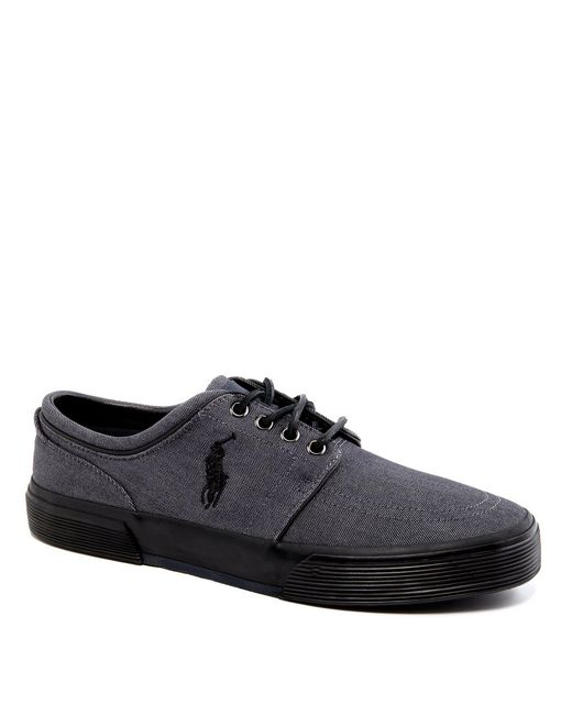 Polo Ralph Lauren - Gray Faxon Low Casual Denim Sneakers for Men - Lyst
