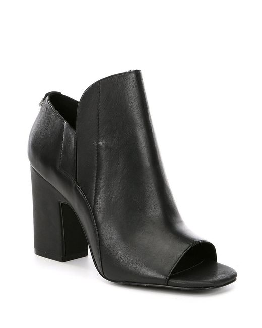 Calvin Klein - Black Remy Block Heel Shooties - Lyst