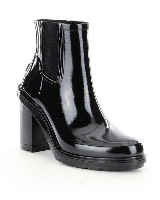 Hunter | Black Women ́s Original Refined High Heel Chelsea Rain Boots | Lyst